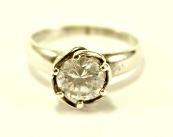 R4058 Women Fashion Jewelry 18K Yellow White Gold Promise Wedding Cocktail Ring