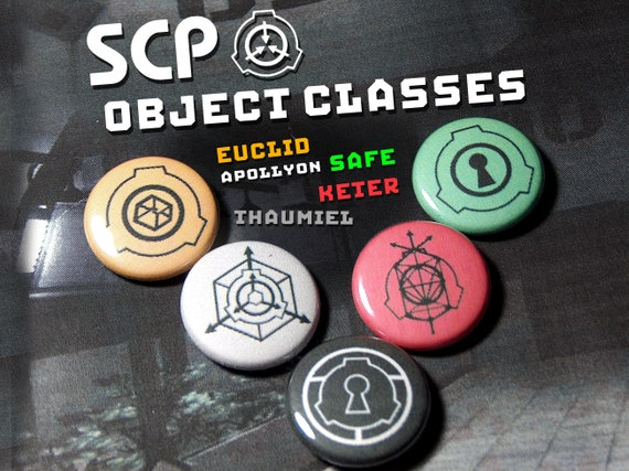 Scp Object Class Pin On Punk Buttons Set Of 5 Etsy This video describes all of the more common scp object classes (safe, euclid, keter, thaumiel, neutralized). scp object class pin on punk buttons set of 5