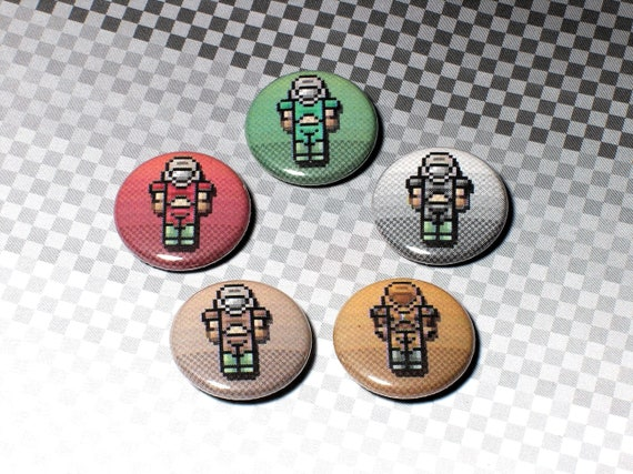 Microdudes Doom Marine Pin On Buttons Set Of 5 Etsy