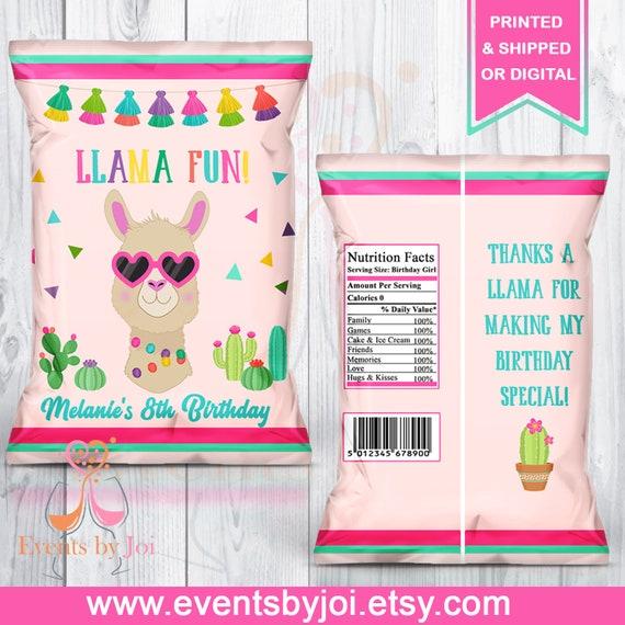 Llama Chip Bag Llama Treat Bag Llama Party Favor