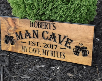 Gift For Him,Funny Gifts, Custom, Mens Gift,Gift For Men,Man Cave,Man Cave Decor,Wooden Sign,Wood Sign,Wood Signs, Wood Carving, Family Sign