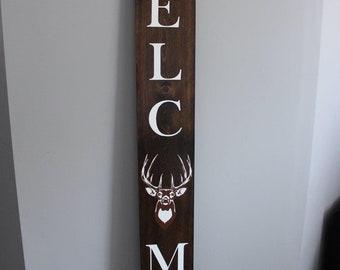 Deer Porch Sign Etsy