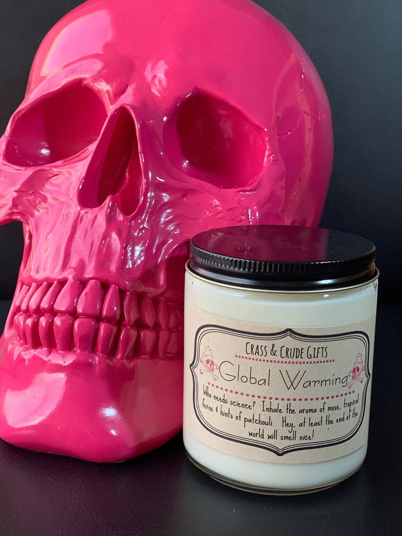 Global Warming   Scented Soy Candle  Funny Candles  Novelty image 0