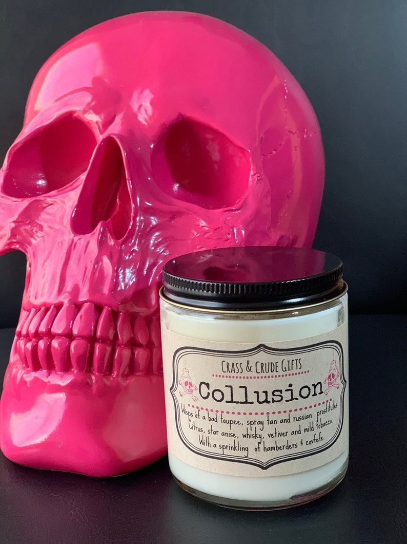 Collusion  Scented Soy Candle  Funny Candles  Novelty image 0