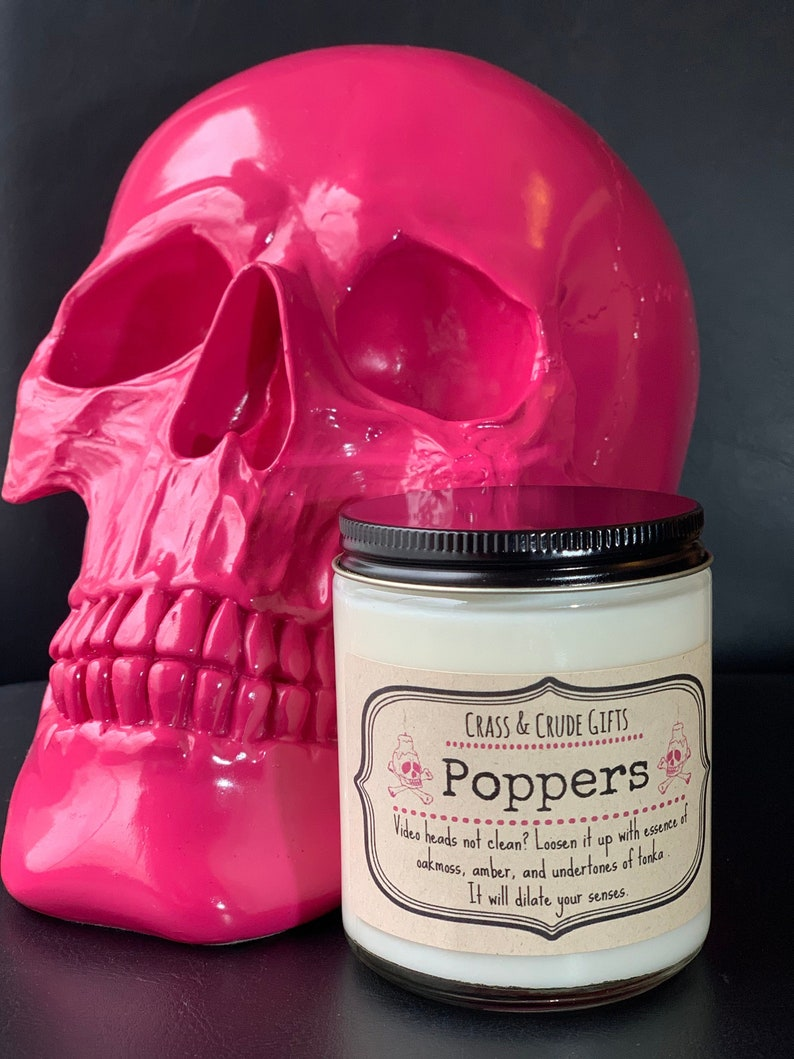 Poppers  Scented Soy Candle  Funny Candles  Novelty Candle image 0