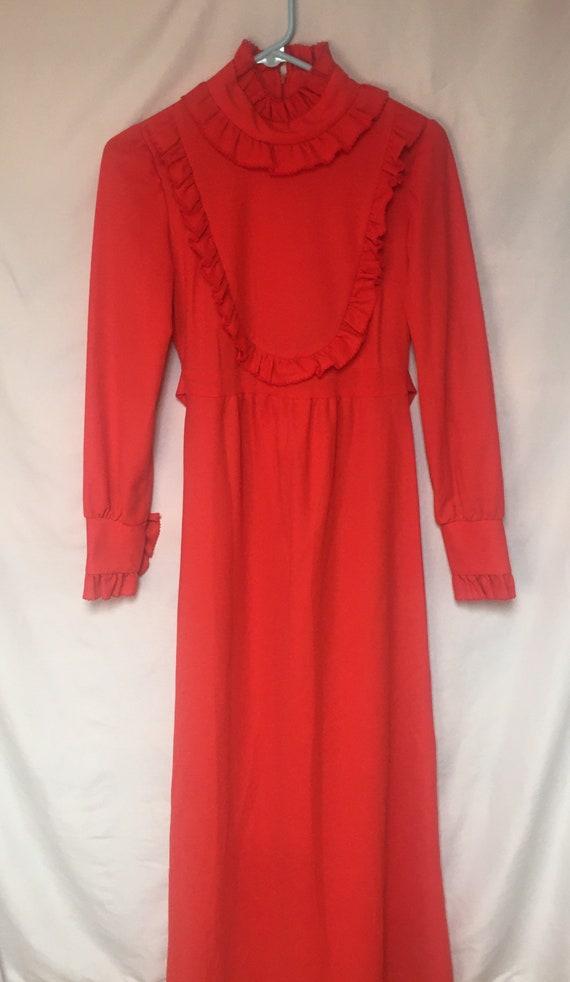1970's Jr's Maxi Dress  Vintage Prom Dress, Festiv