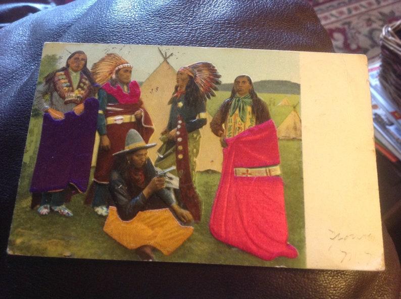 Rare illustrated Native American Postcard 1908