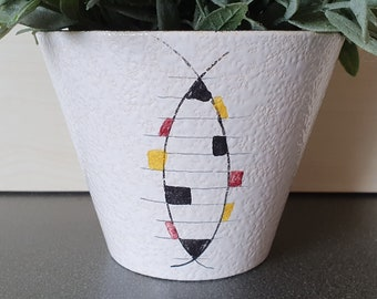 Hand painted planter by Adco, Mondriaan design, Dutch pottery from the 60s