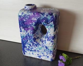 Marei 2003 vase in blue and purple, chimney vase