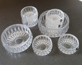 Cut lead crystal bowls, set of 8, Seebachhütte 24 lead crystal, made in Germany.