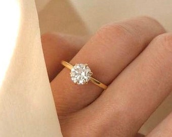 Solitaire Ring Etsy