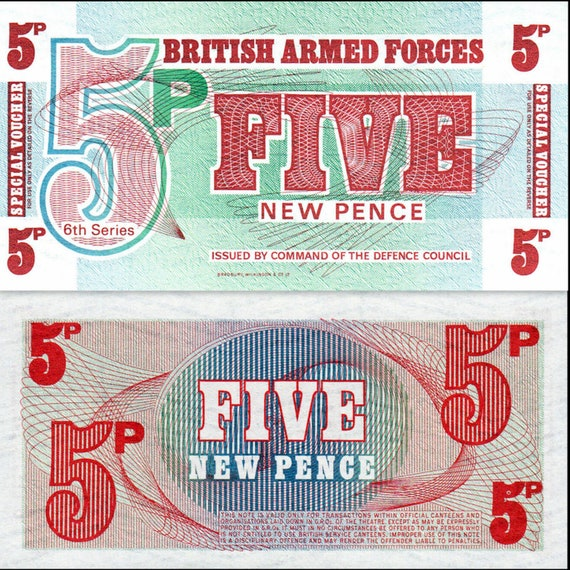 10 1972 Set of 3 Notes: 5 50 New Pence UNC British Armed Forces UK 6th Ser