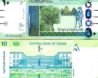 Sudan 2017 > 10 Pounds, Banknote UNC