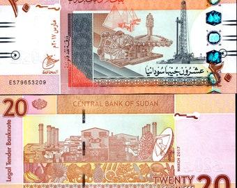 Sudan 2017 > 20 Pounds, Banknote UNC