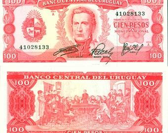 Uruguay 1967 > 100 Pesos, Banknote UNC