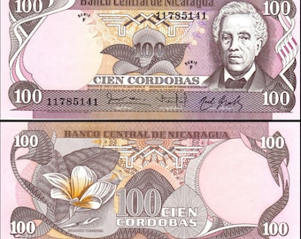 Nicaragua 1984 > 100 Cordobas, Banknote UNC