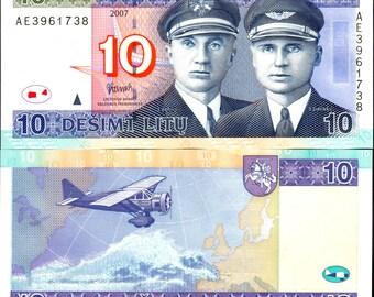 Lithuania 2000's > 10 Litas, Banknote UNC