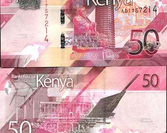 Kenya 2000's > 50 Shillings, Banknote UNC - New Design