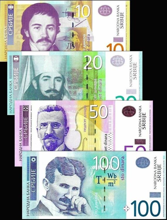 50 UNC set 10 5 SERBIA YUGOSLAVIA 100 Dinara issue 1993-6 pc 2 1