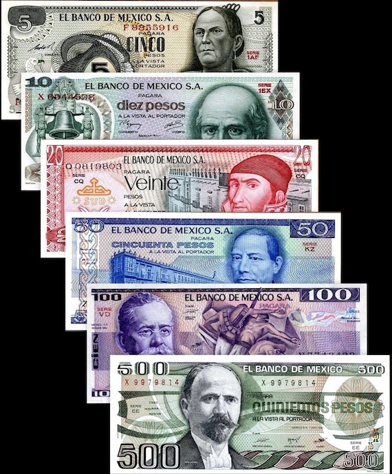 100 Mexico 1 500 Pesos Uncirculated Banknote Set # 3