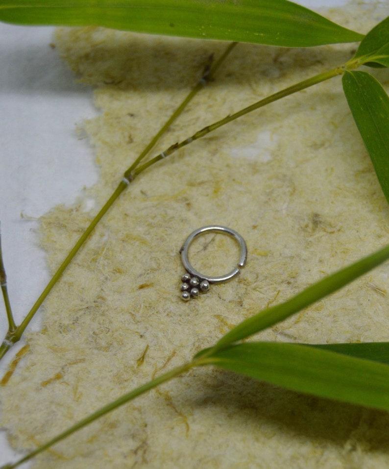 piercing nose Septum Silver ring