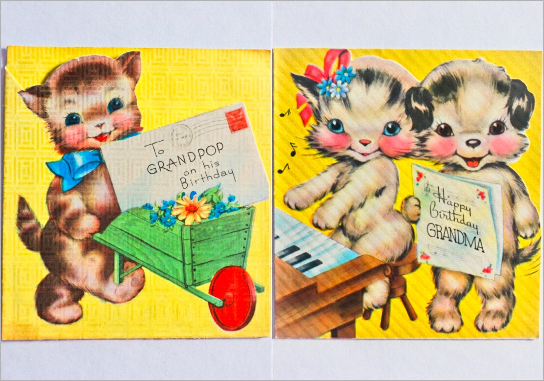Vintage Unused Birthday Card For Grandpa Or Grandma Choose