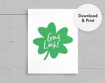photo relating to Free Printable Good Luck Cards identify Excellent Luck Playing cards Etsy