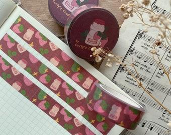 Illustration Stickers Cozy Tape Cottagecore Bullet Journal Digital Art Cloudy Bruno Washi Tape Korean Aesthetic Stationery Washi
