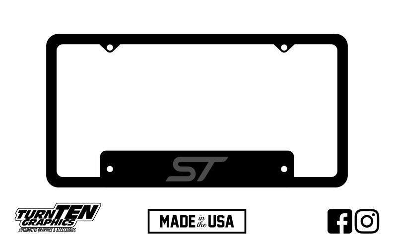 Ford ST License Plate Frame Focus Fiesta Edge Explorer
