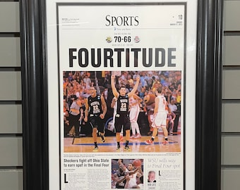 2013 Wichita State Shockers NCAA Final Four Framed Front Page Newspaper Print
