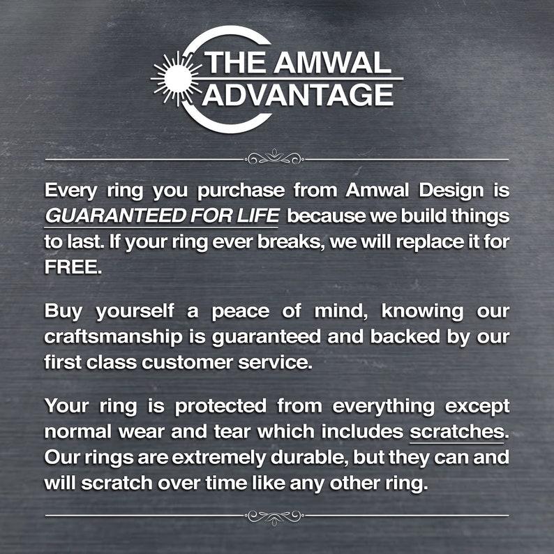 Deep Purpleheart Wood Inlay Silver Titanium Wedding Ring