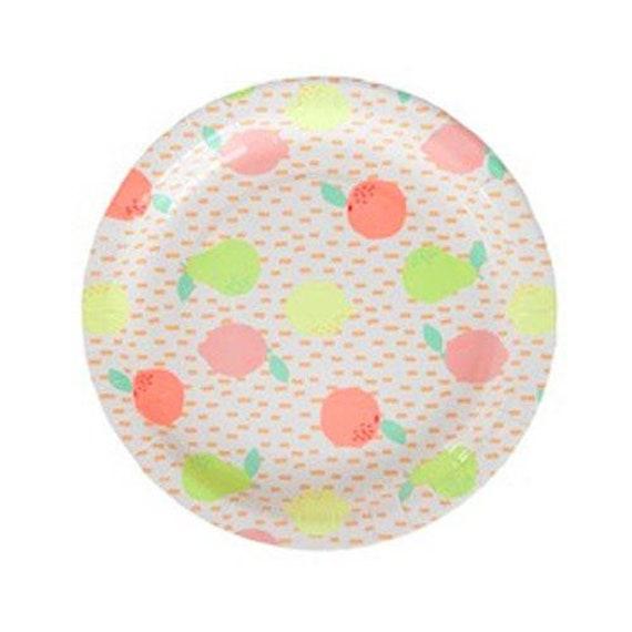 Green Polka Dot Plates Pack of 10