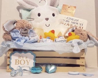 c3e02a03c9167 Baby shower gift-baby boy gift- shower basket- baby homecoming