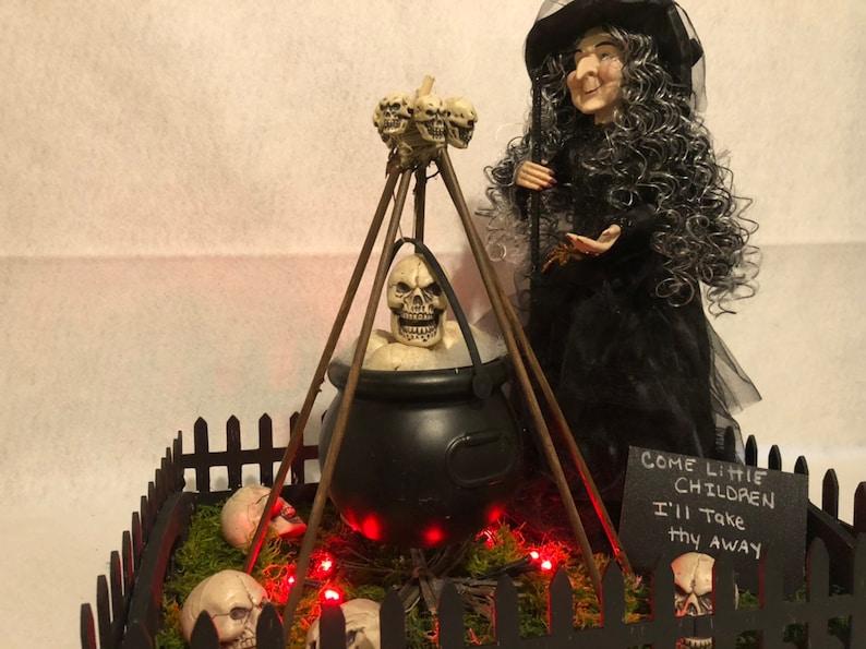 witch decor Halloween centerpiece-Witch Centerpiece-halloween decor partydecor table decor