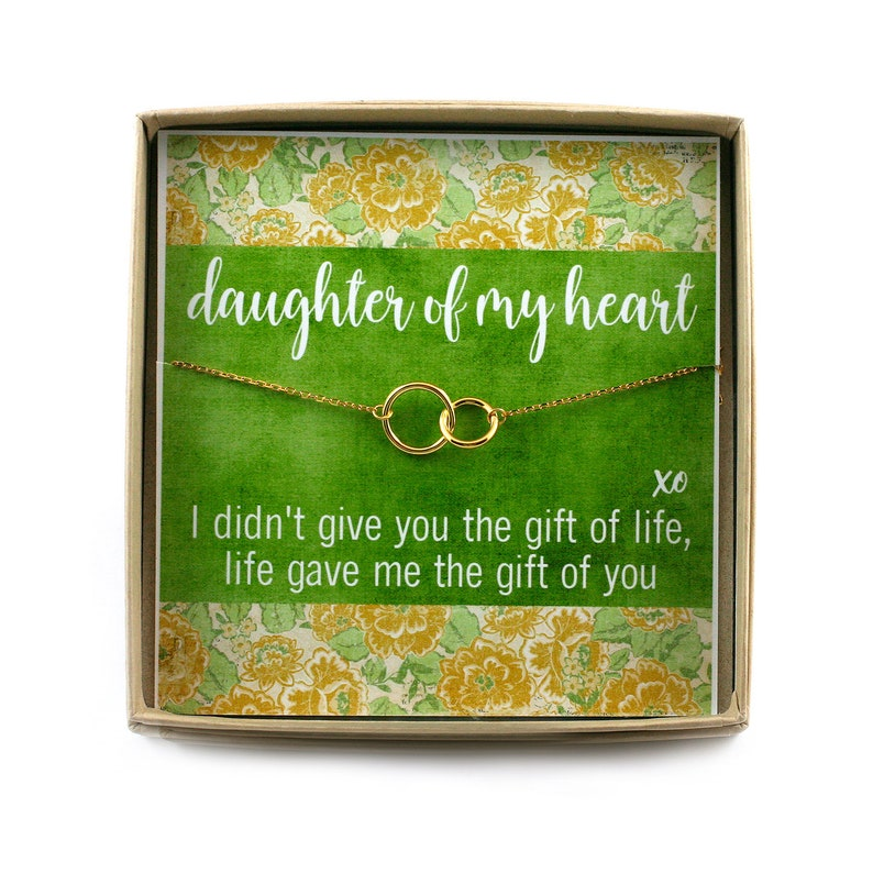 Daughter of My Heart Bracelet  Step Daughter Gift  Circle image 0