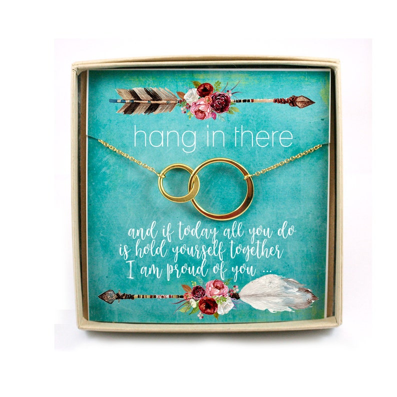 Hang in There Necklace  Encouragement Necklace  Loss  image 0