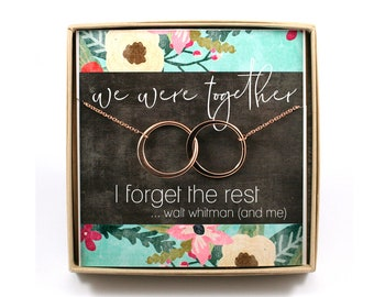 We Were Together Necklace • Two Connecting Circles Necklace • Jewelry Gift Card  • Gift for Her • Wife Gift • Anniversary Gift • Friendship