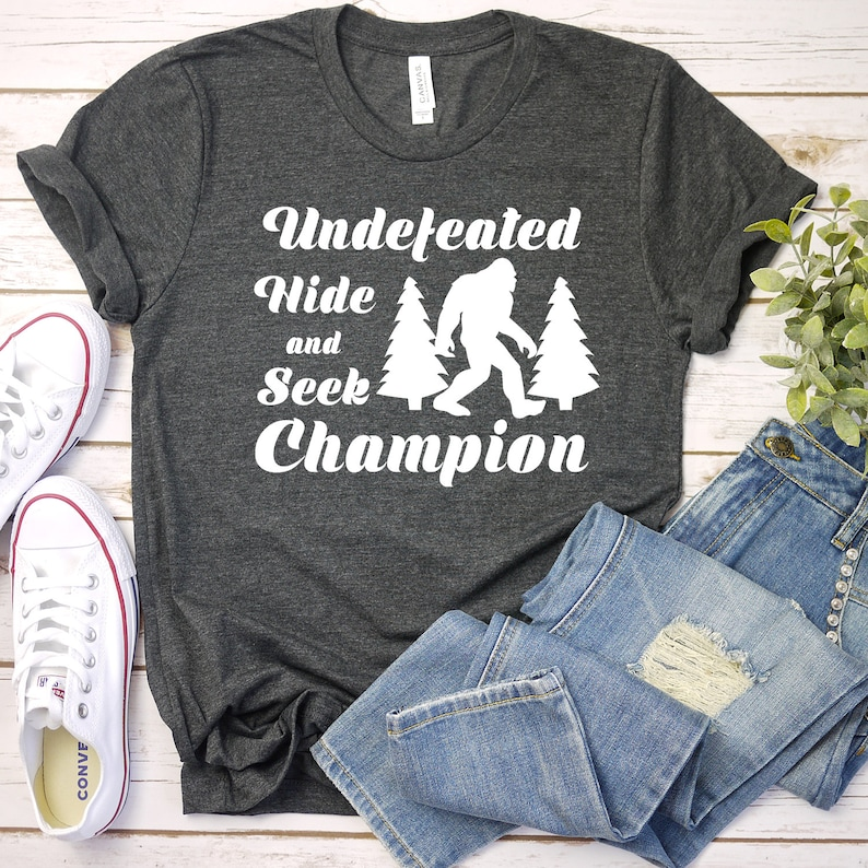 cee624918 Bigfoot T-shirt / Undefeated Shirt / Undefeated Hide & Seek | Etsy
