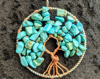Tranquil Turquoise Tree of Life