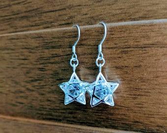Starry Night Crystal Earrings