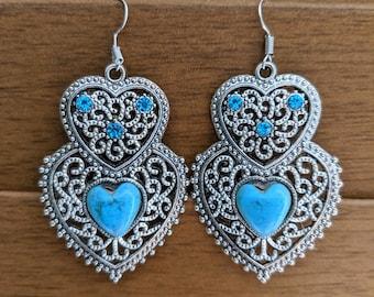 Bohemian Hearts Earrings
