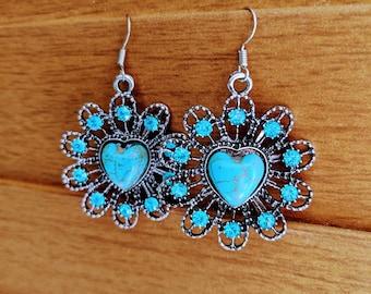 Mandala Heart Earrings