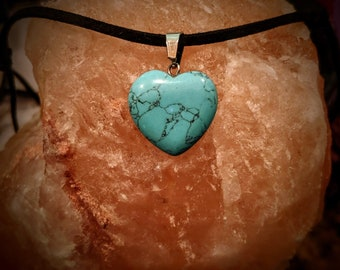 Totally Turquoise Heart Necklace