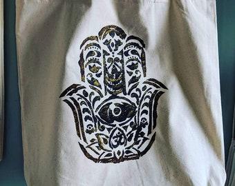 Grounded Hamsa Tote Bag