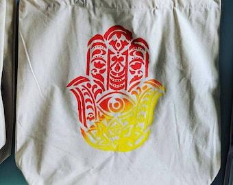 Sunburst Hamsa Tote Bag