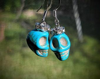 Queen Skull Earrings