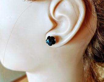 Black Zirconia Crystal Earrings