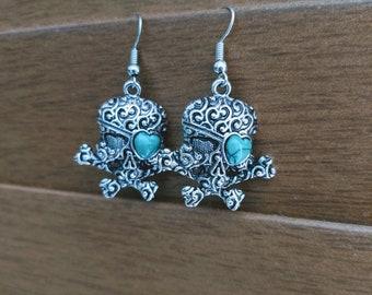 Devilish Skull Pirate Earrings