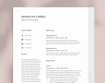Elegant And Professional Resume Template