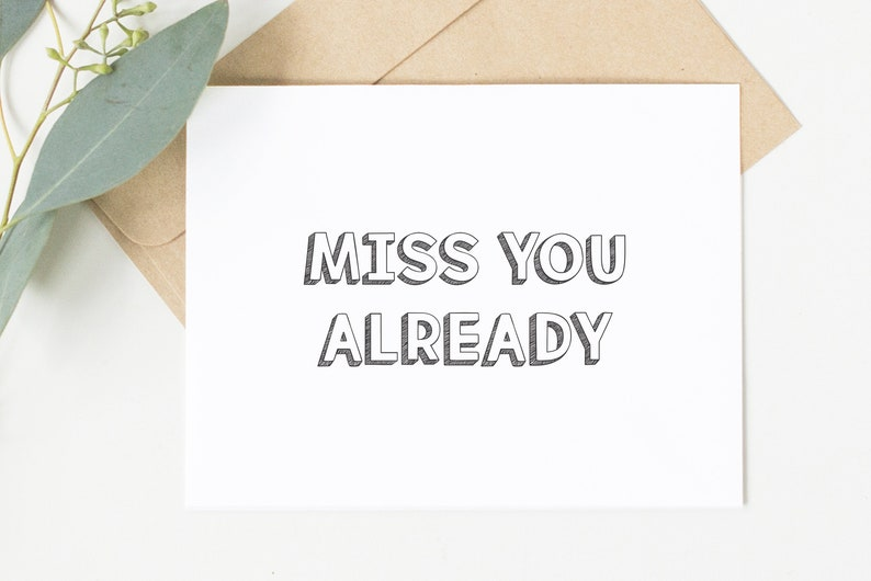 photo relating to Free Printable Miss You Cards known as Pass up On your own Now - Printable Greeting Card - Lovely Playing cards, Cheeky Playing cards, Enjoyable Playing cards - Fast Down load
